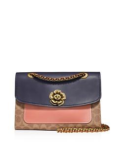 COACH - Parker Medium Color-Block Signature Coated Canvas & Leather Shoulder Bag