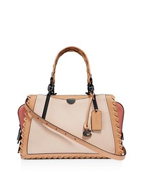 c6d5ea0568d COACH - Dreamer Medium Whipstitch   Color-Block Leather Shoulder Bag ...