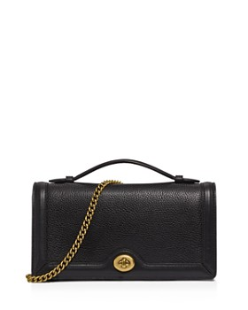 COACH - Riley Medium Top-Handle Polished Pebble Leather Clutch