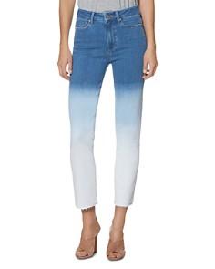 PAIGE - Hoxton Slim Jeans in Arctic Ombré