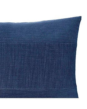 "ED Ellen Degeneres - Blue Pieced Strie Velvet Decorative Pillow, 12"" x 16"""