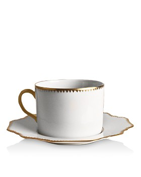Anna Weatherley - Simply Anna Antique Saucer with Houndstooth Edge