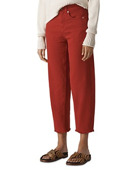 Whistles - High Rise Barrel Leg Jeans in Rust