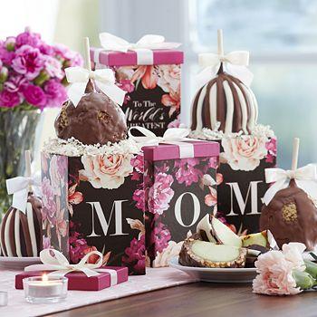 Mrs Prindables - Floral Mother's Day Petite Caramel Apple Gift Set