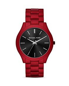 Michael Kors - Slim Runway Red Link Bracelet Watch, 44mm