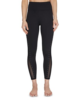 Betsey Johnson - Studded Mesh-Inset Leggings