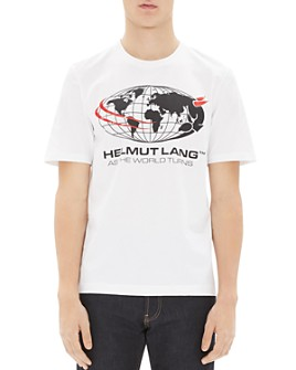 Helmut Lang - World Turns Logo Graphic Tee