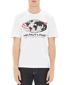 Helmut Lang - World Turns Logo Graphic Tee