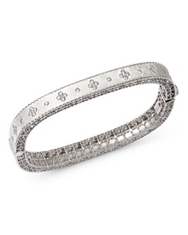 Roberto Coin - 18K White Gold Princess Diamond Bangle Bracelet