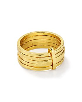 Argento Vivo - Multiple-Band Ring in 18K Gold-Plated Sterling Silver