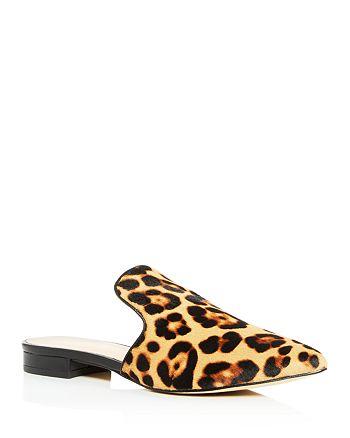 Rachel Zoe - Women's Natalie Leopard-Print Calf Hair Mules