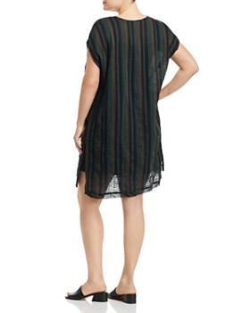 Eileen Fisher Plus - Striped Cap-Sleeve Dress