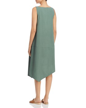 Eileen Fisher - Asymmetric V-Neck Midi Dress