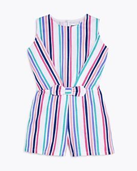 Mini Series - Girls' Multi Stripe Romper, Little Kid - 100% Exclusive