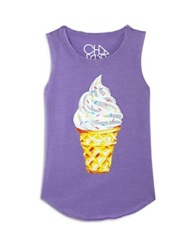 CHASER - Girls' Ice Cream Tank - Little Kid, Big Kid