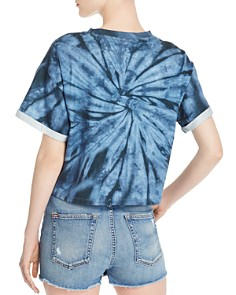 Alice and Olivia - Tommy Tie-Dye Cropped Band Tee