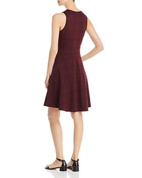 Leota - Ava Plaid Knit Fit-and-Flare Dress