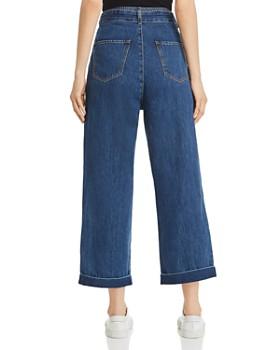 Vero Moda - Vero Moda Kristina High-Rise Cropped Wide-Leg Jeans in Medium Blue Denim