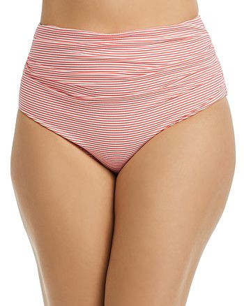 Ralph Lauren - Plus Seersucker Striped Tankini Bottom