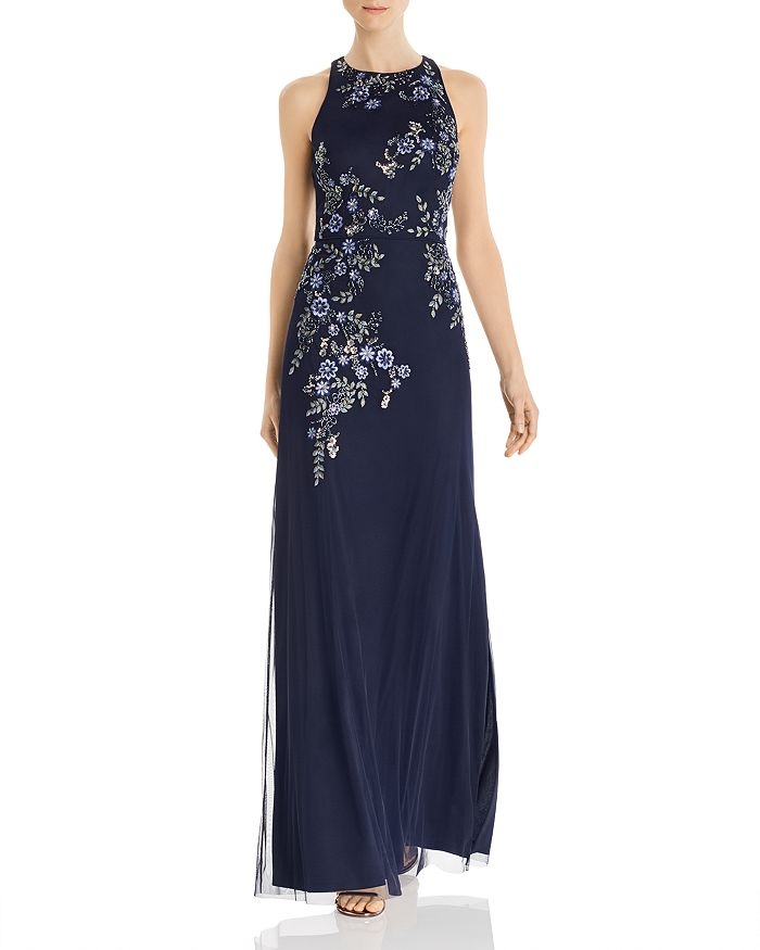 Aidan Mattox - Embellished Floral Gown