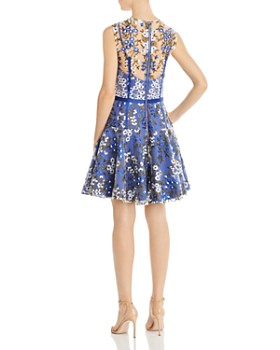 BRONX AND BANCO - Floral Embroidered Party Dress