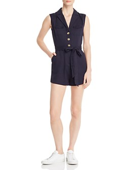 Honey Punch - Belted Button-Front Romper
