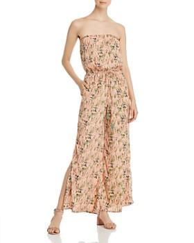 Elan - Strapless Floral-Print Jumpsuit