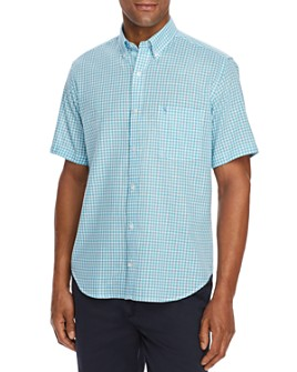 TailorByrd - Kash Short-Sleeve Gingham Classic Fit Button-Down Shirt