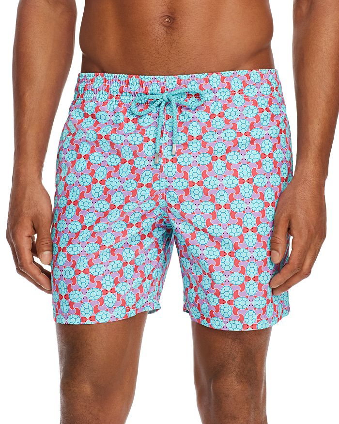Vilebrequin - Moorea Data Turtle-Print Swim Trunks
