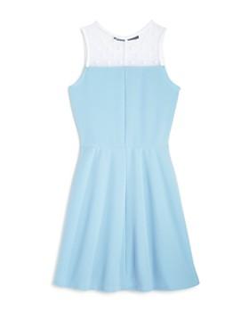 AQUA - Girls' Illusion Skater Dress, Big Kid - 100% Exclusive