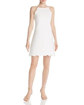 AQUA - Scalloped Shift Dress - 100% Exclusive