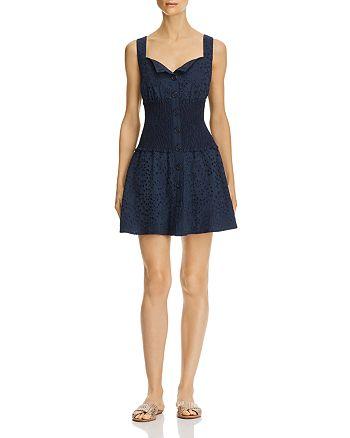 Kendall + Kylie - Smocked Eyelet Dress