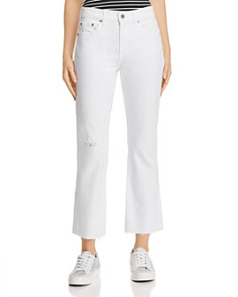 Pistola - Lennon High-Rise Cropped Bootcut Jeans in Ice Breaker