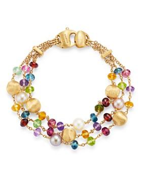 Marco Bicego - 18K Yellow Gold Africa Gemstone Pearl Multi-Strand Beaded Bracelet