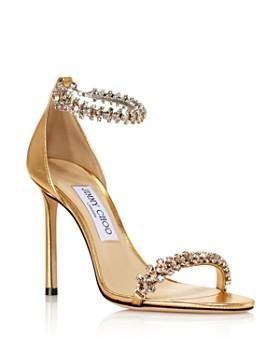 55607953088 Jimmy Choo - Women's Shiloh 100 Crystal Embellished High-Heel Sandals ...