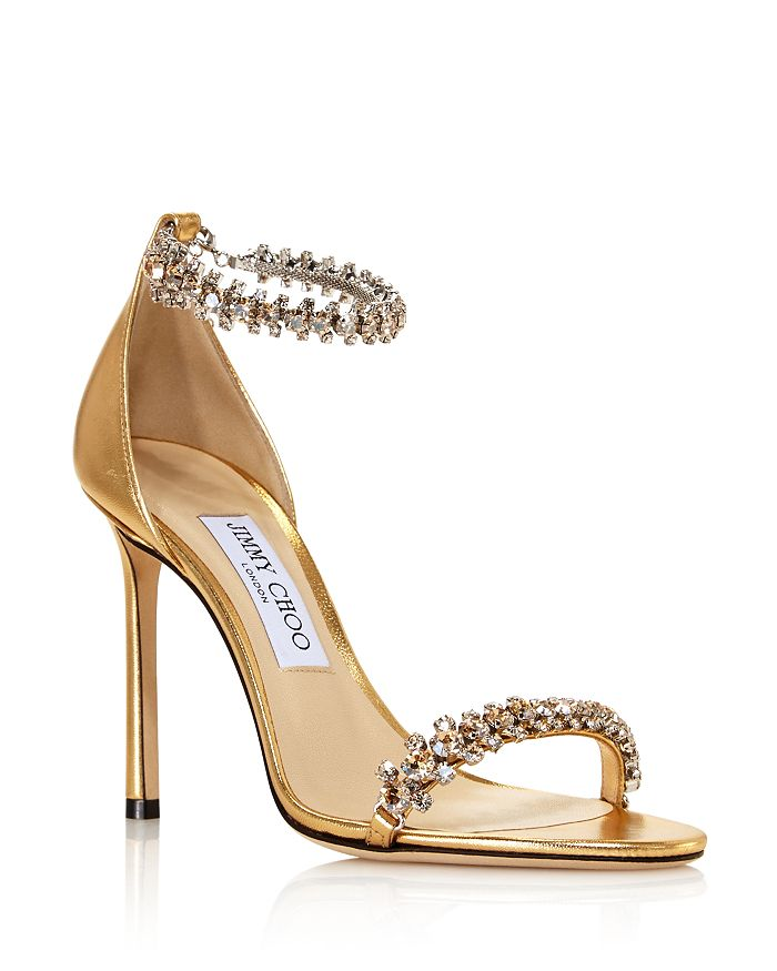 Jimmy Choo - Women's Shiloh 100 Crystal Embellished High-Heel Sandals