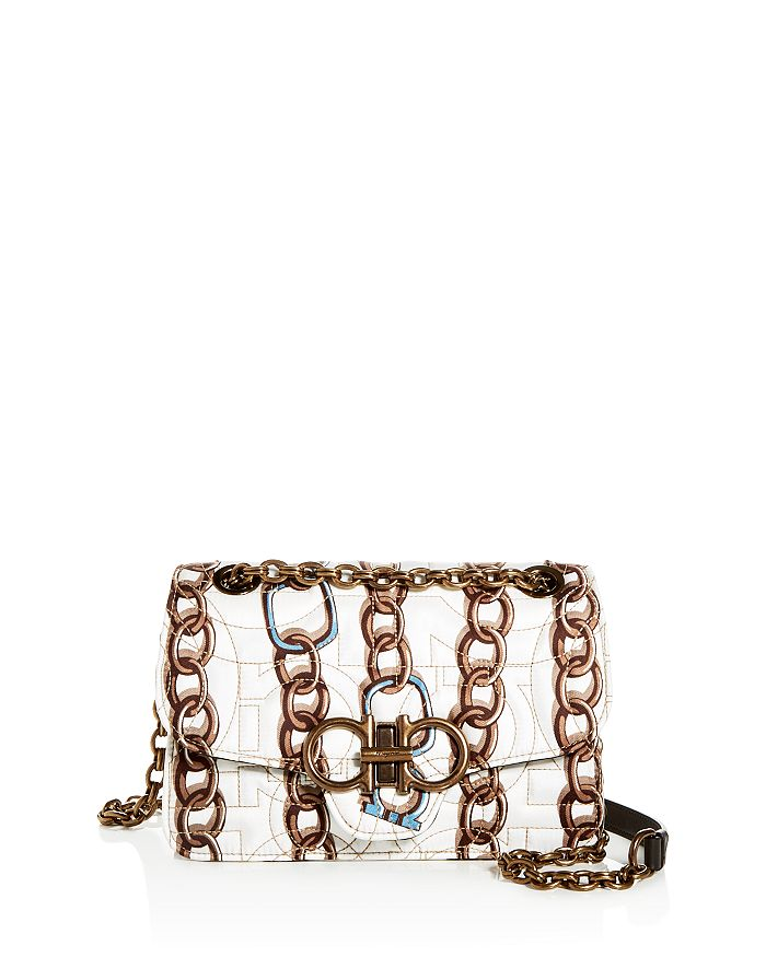 Salvatore Ferragamo - Small Gancini Quilted Chainlink Shoulder Bag