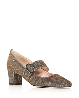 SJP by Sarah Jessica Parker - Women's Tartt Square-Toe Mid-Heel Pumps