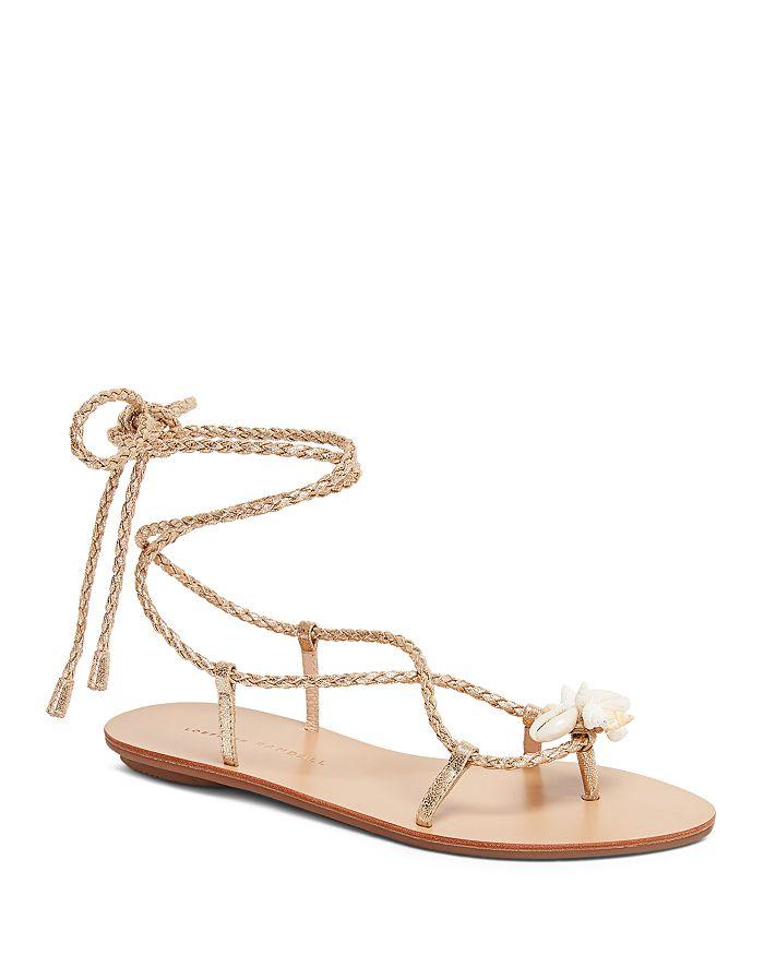 Loeffler Randall - Women's Shelly Leather Flat Sandals