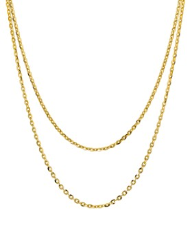 "Argento Vivo - Double Strand Necklace in 18K Gold-Plated Sterling Silver, 15""-17"""