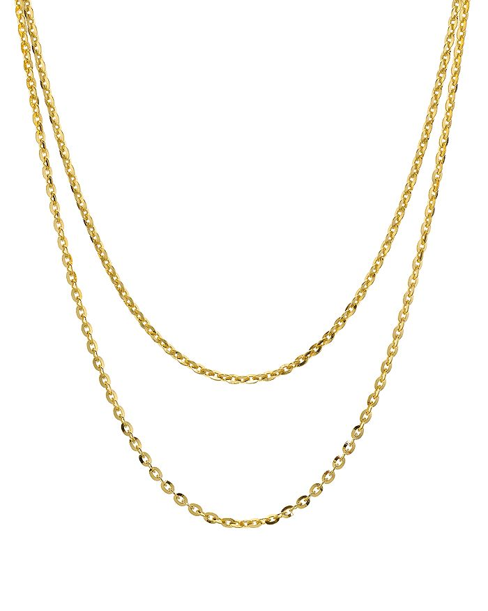 """Argento Vivo - Double Strand Necklace in 18K Gold-Plated Sterling Silver, 15""""-17"""""""