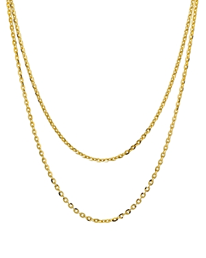 Argento Vivo Double Strand Necklace in 18K Gold-Plated Sterling Silver, 15-17