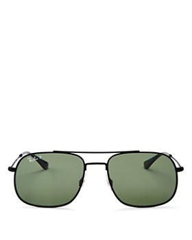 Ray-Ban - Men's Polarized Brow Bar Square Sunglasses, 56mm