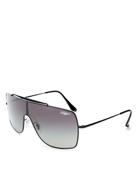 Ray-Ban - Unisex Brow Bar Shield Sunglasses, 135mm