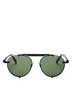 Salvatore Ferragamo - Men's Brow Bar Round Sunglasses, 52mm