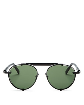 Salvatore Ferragamo - Men's Brow Bar Round Sunglasses, 52mm
