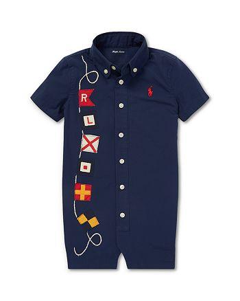 Ralph Lauren - Boys' Nautical Poplin Shortall - Baby