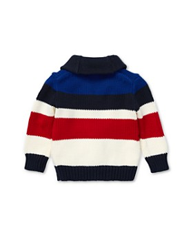 Ralph Lauren - Boys' Striped Cotton Shawl Cardigan - Baby