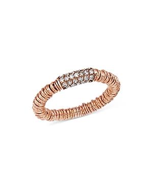 Roberto Demeglio 18K Rose Gold Joy Stretch Ring with Champagne Diamonds