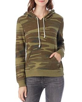 ALTERNATIVE - Athletic Camo Hooded Sweatshirt